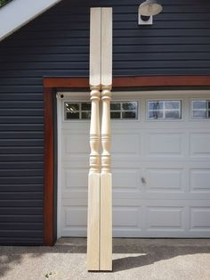 These 10' porch posts are our New Hampshire pattern. Porch Posts, New Hampshire, Garage Doors, Wood, Outdoor Decor, Home Decor, Decoration Home, Woodwind Instrument, Room Decor