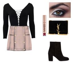 """Night"" by superflylala ❤ liked on Polyvore featuring Lanvin, Zara, T By Alexander Wang, Alexander Wang, Yves Saint Laurent, Balmain and Urban Decay"