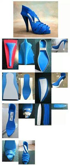 Schuh aus Fondant