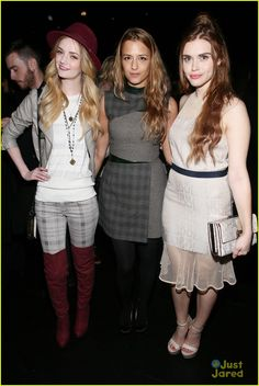 Lydia Hearst-Shaw, designer Charlotte Ronson, and Holland Roden at the Charlotte Ronson Fall 2013 Presentation during Mercedes-Benz Fashion Week (February 8, 2013).