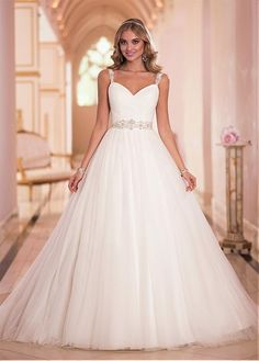 7a4daac33a4 Magbridal Stunning Tulle Sweetheart Neckline Natural Waistline Ball Gown  Wedding Dress