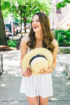 Boater Hat, Chicago Style Blogger