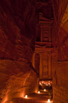 ✮ The Famous Treasury Lit Up At Night - Petra, Jordan - @Rebecca Boardman can we please go?