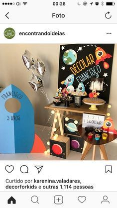 First Birthday Parties, Boy Birthday, First Birthdays, Simple First Birthday, Party On Garth, Astronaut Party, Outer Space Party, Baby Party, Party Themes