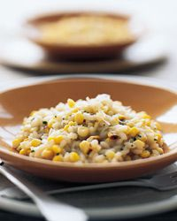 Yummy! I used onion instead of shallot and was still delicious! Pan-Roasted Corn Risotto Recipe on Food & Wine
