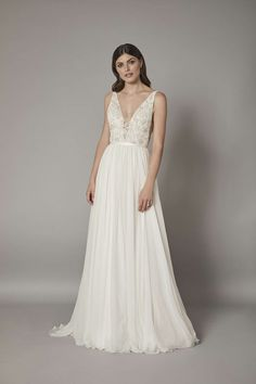 The Catherine Deane bridal collection is an exquisite collection of timeless wedding dresses. Tulle Gown, Silk Gown, Satin Gown, Silk Chiffon, Catherine Deane Wedding Dress, Boho, Lace Sleeves, Bridal Looks, Bridal Boutique