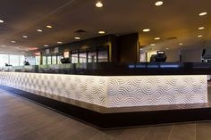 Small Circles design in Australian made wall panels line the Wetlands Bar in the Brisbane Entertainment Centre 3d Wall Panels, Led Panel, Circle Design, Entertainment Center, Brisbane, Entertaining, Interior Design, Architecture, Circles
