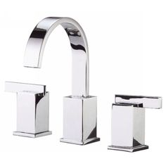 "Danze D304044 Sirius Two Handle 6-12"" Widespread Bathroom Faucet 1.5 GPM Polished Chrome - eFaucets.com"