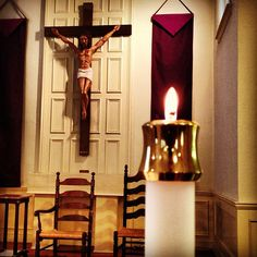 Between morning #Mass and a funeral #candle #crucifix by mehjg, via Flickr