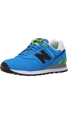 New Balance Men's ML574 Acrylic Pack Classic Running Shoe, Blue/Green, 7.5 D US Best Price