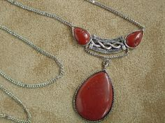 Red Jasper Sterling Silver Pendant & Necklace