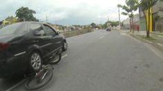 SEGURANÇA: CAMERA CAPACETE - G1 - Ciclista grava próprio atropelamento e fuga de condutor em veículo em BH - notícias em VC no G1 MG