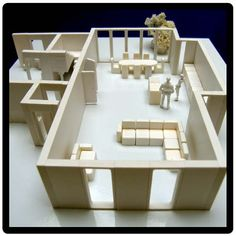3D architects model kit to create a scale model house interior