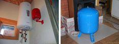 демпферный бак водонагревателя и линии холодной воды