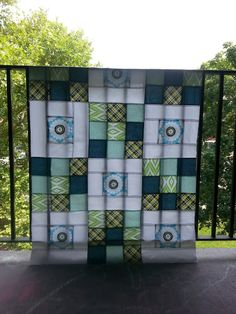 Quilt Story: A simple quilt top!  Nine patch and squares.  Boom.