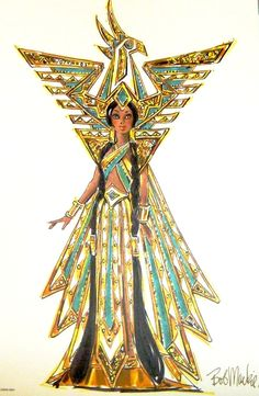 Fantasy Goddess of The Americas release by Bob Mackie International Beauties collection - 2000 Egyptian Beauty, Egyptian Art, Carnival Costumes, Cool Costumes, Fashion Dolls, Fashion Art, Fashion Design, Ancient Egypt Fashion, Samba Costume