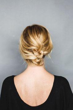 An Easy Short Hair Updo