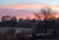 Google+ The photograph of sunrise was taken from the bedroom window of his home by Anthony Sargeant at 9.00am in January 2014