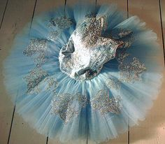 Silver Embellished Blue Tutu