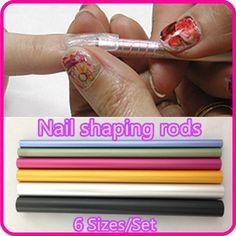 6 unids herramientas del arte del clavo tamaño diferente Curve vara Sticks herramienta del clavo Artificial + Free ( NR-WS65 )