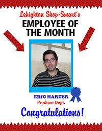create a poster about employee of the month staff recognition