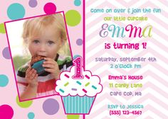 Hey, I found this really awesome Etsy listing at https://www.etsy.com/listing/112382940/cupcake-birthday-invitation-girl