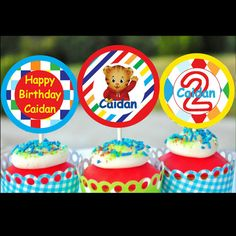 DANIEL TIGER  birthday Cupcake Toppers