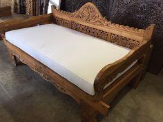 Balinese Teak Daybed w/ Sunbrella Cushions - Christian Meuter - Living Room Bali Furniture, Selling Furniture, Home Decor Furniture, Sofa Furniture, Furniture Design, Morrocan Decor, Balinese Decor, Indonesian Decor, Sofa Design