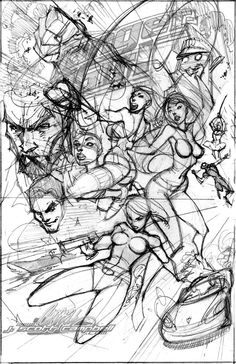 rough pencil j scott campbell | poster layout by j scott campbell scraps 2008 2013 j scott campbell ...