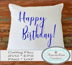 Happy Birthday SVG Cutting File Digital Download Cutting Files, Happy Birthday, Digital, Happy Brithday, Urari La Multi Ani, Happy Birthday Funny, Silhouette Projects, Happy Birth