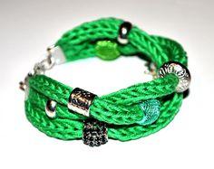 tricotin bracelet - handmade by Majalena