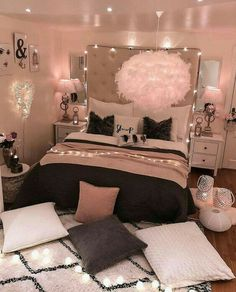 bedroom decorating ideas for teen girls decoration - dream bedroom decor tips to produce a super comfortable teen girl bedrooms. Bedroom Decor Suggestion tip posted on 20190219 Cute Bedroom Ideas, Girl Bedroom Designs, Room Ideas Bedroom, Dream Bedroom, Teen Room Designs, Budget Bedroom, Design Bedroom, Child's Room, Bedroom Inspiration
