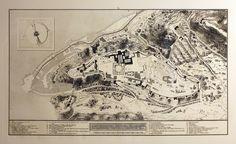 Juan de la Cruz. Plano general de la fortaleza de la Alhambra, sus contornos y parte de la jurisdicción