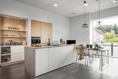 Concrete is a hard material, but is not as dense in structure as composite. That's why Diresco created the color Crea Beton Light. 🎨This color looks like concrete, but it has the benefits of quartz composite. Kitchen Room Design, Kitchen Interior, Kitchen Ideas, Countertops, Sweet Home, New Homes, Table, House, Inspiration
