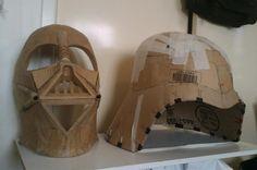 Oversized 1:1.5 Darth Vader helmet. Disfraz Darth Vader, Darth Vader Cosplay, Disfraz Star Wars, Darth Vader Mask, Darth Vader Costumes, Cute Group Halloween Costumes, Vader Helmet, Cosplay Armor, Diy Costumes