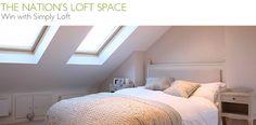 Loft room with roof lights