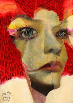 "crossconnectmag: "" 1000 Broken Faces by Takahiro Kimura Japanese artist Takahiro Kimura is a collage artist.Takahiro's art is focused on the face, and how art is related the viewer. In Takahiro's. Art And Illustration, Collage Artists, Ap Art, Electronic Art, Japanese Artists, Portrait Art, Figure Painting, Cool Art, Contemporary Art"