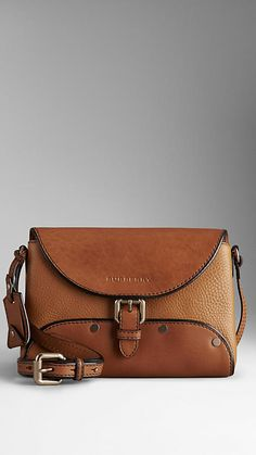 Grain-Effect Leather Crossbody Bag | Burberry