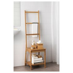 IKEA - RÅGRUND, Chair with towel rack, bamboo, Helps to save room because you get both a chair and a towel rack in the same space. Bamboo is a durable, natural material. Bathroom Chair, Bamboo Bathroom, Towel Rack Bathroom, Bathroom Furniture, New Furniture, Rustic Furniture, Antique Furniture, Pool Bathroom, Outdoor Furniture