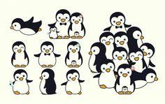 Family penguins