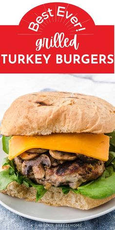 Full of flavor and healthy nutrition, these homemade turkey burgers are lip-smacking good! Grill them (or even cook in the oven!) to perfection in under 15 minutes. Cooking Turkey Burgers, Homemade Turkey Burgers, Grilled Turkey Burgers, Beef Burgers, Roasted Veggies In Oven, Roasted Sweet Potatoes, Healthy Nutrition, Healthy Recipes, Easy Recipes