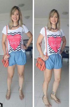 look casual - look despojado - tee estampada - chocker - bolsa laranja - short jeans