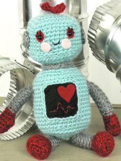 Robot Amigirumi   Yarn   Free Knitting Patterns   Crochet Patterns   Yarnspirations