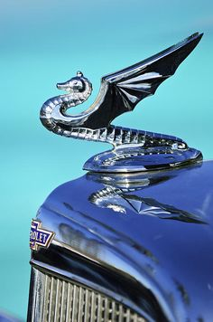 1934 Aftermarket Chevrolet Hood Ornament 2 - Jill Reger - Photographic prints for sale