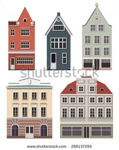 stock-vector-set-of-the-old-northern-european-buildings-set-of-the-cartoon-houses-266137295.jpg (374×470)