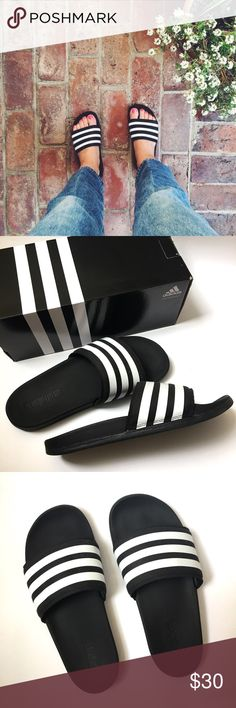 Adidas Adilette SC+ Slides Sandals Supercloud plus slipper sandals. It literally feels like walking on a cloud. It features matte cushiony strap and sole. Totally different from the plastic slides. Worn only few times in an interior space. No sign of wear. Like new condition. Mens size 6. Fits Womens size 7-7.5 Ships with original shoes box. Adidas Shoes Sandals