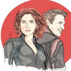 Black Widow - Hawkeye #Avengers #Blackwidow #Natasharomanof #Hawkeye #ClintBarton