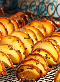 These potato spirals are a big street food craze, but it's easy to make tornado potatoes at home, too. You just need some skewers and a steady hand! Our potato tornadoes have lots of flavour, thanks to garlic and fresh herbs.