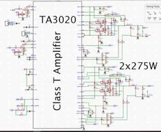 STEREO 300W CLASS-T DIGITAL AUDIO AMPLIFIER DRIVER Diy Amplifier, Class D Amplifier, Electronic Circuit Design, Audio Sound, Circuit Diagram, Digital Audio, Power Led, Layout Design, Tech