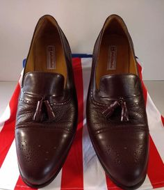 d2f7110f650 Johnston Murphy dark brown Leather size 11 Slip On Tassel Loafers